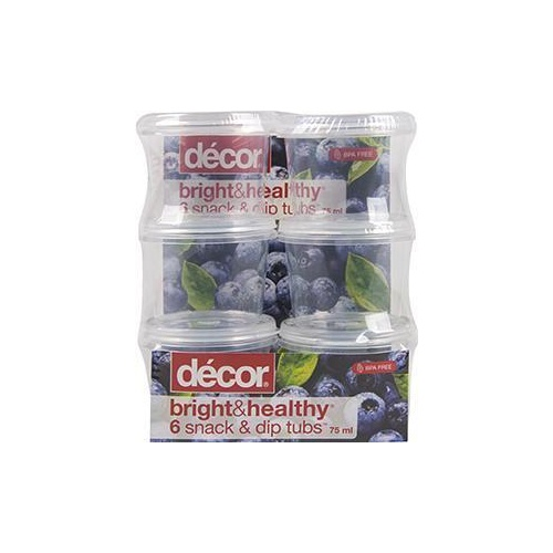B H Snack Dip Tubs 6x75ml
