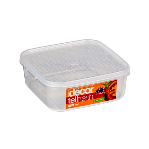 Container Clear 500ml Tellfresh