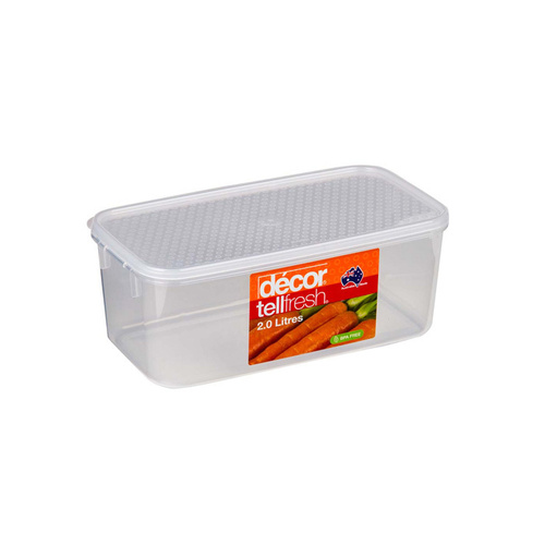 Container Clear 2lt Tellfresh
