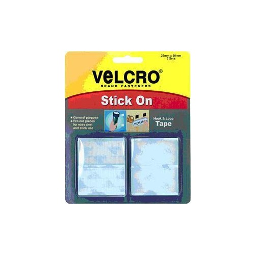 Velcro Hook   Loop White 25mm