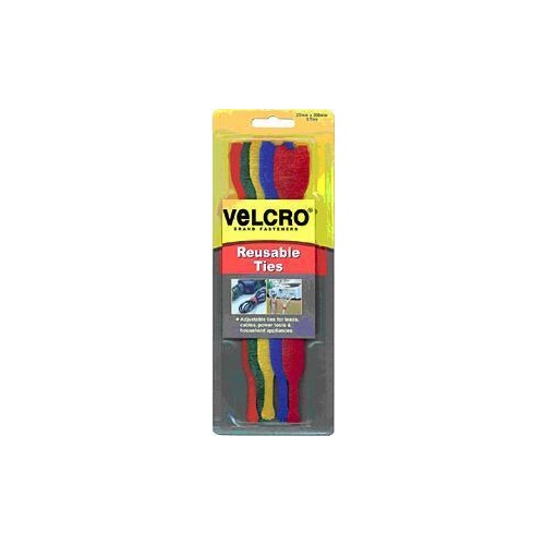 Velcro Resuable Ties 5 Colours