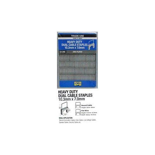 Cable Staples Dual 10.3mm x 7.0mm