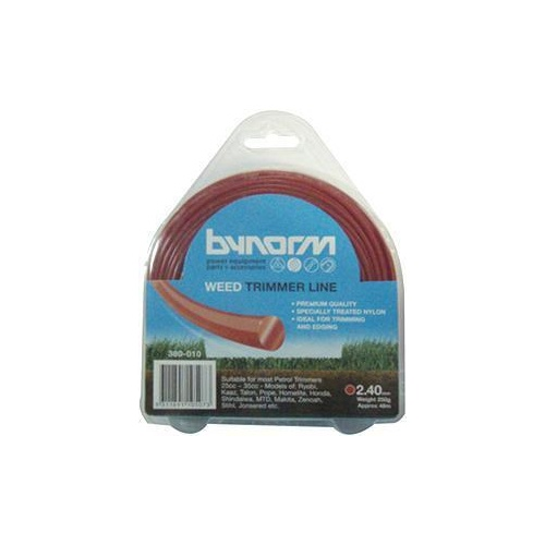 Bynorm Trimmer Line Red 2.4mm 250gm