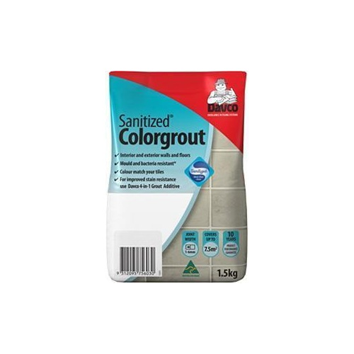 Grout Sanitized Colorgrout 01 White 1.5kg Davco