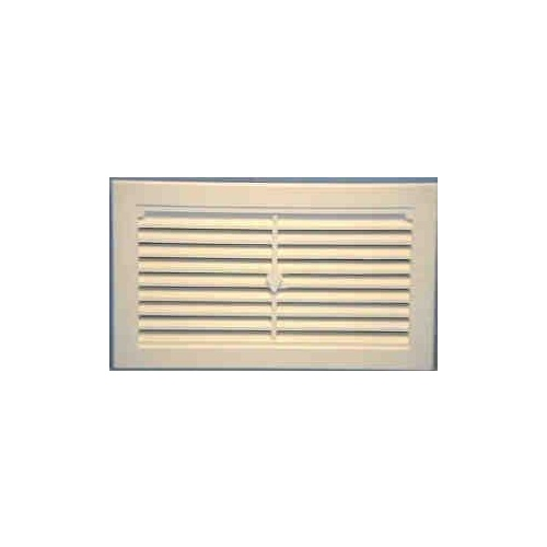 Vent Wall Plastic White 245x145mm Haron