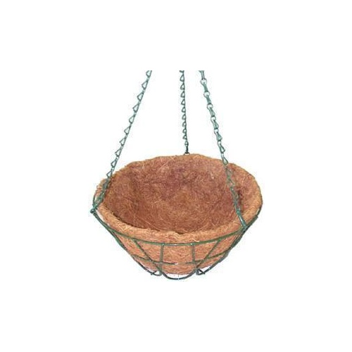 Basket Wire Hanging with Liner Gree