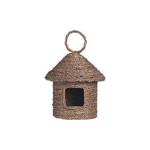 Bird House Seagrass Flat 20cm High