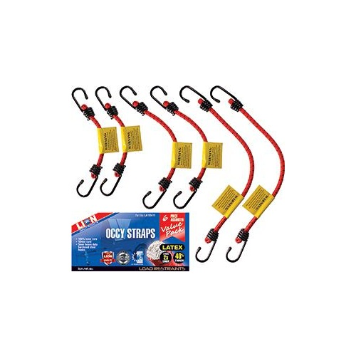 Occy Strap Assortment 6pc