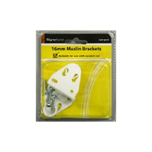 Bracket Muslin Black 16mm Pk2