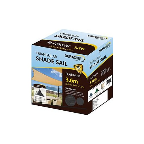 Durashield Shadesail Platinum Charc oal Triangle 3.6m
