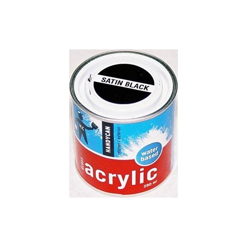 Acrylic Satin Black 250ml