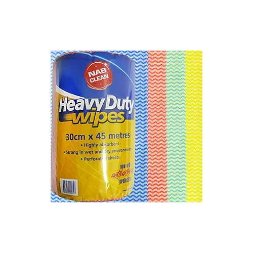 Wipes Heavy Duty Yel 45mx30cm