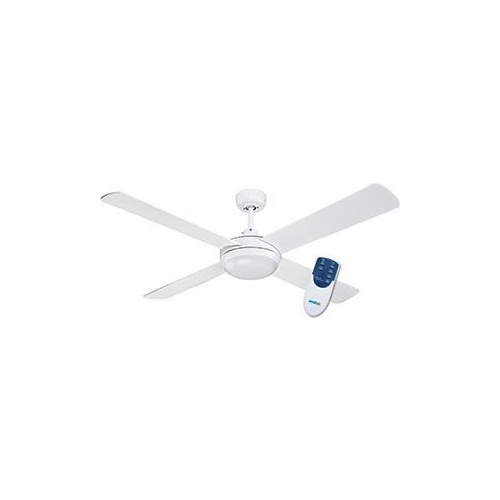 Royale Ceiling Fan 4 Blade LED Lgt RF Remote White 1300mm