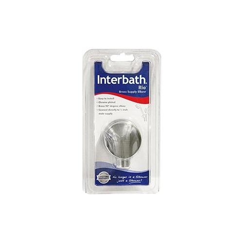 Interbath Shower Elbow  Chrome 90 D eg