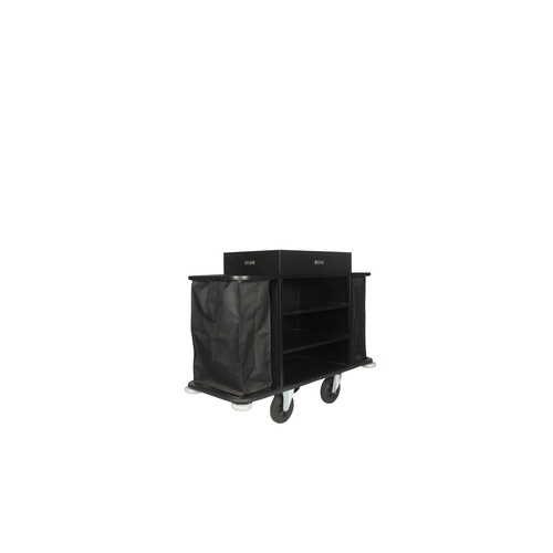 Wagen Maids Cart 4 Star 2 Bags Lrge L1770xW570xH1100 - Black