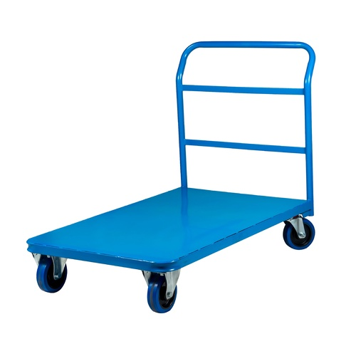 Wagen Platform Trolley Single Single Handle Medium Blue 1235x780