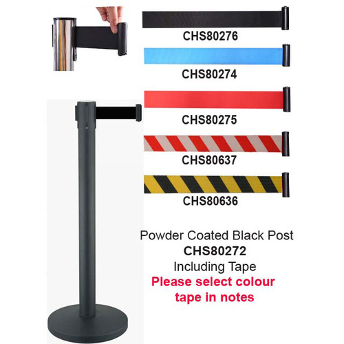 Crowd Control Barrier Barrier Crowd 4Way 63mm Black