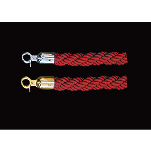 Crowd Control Barrier Rope Plaited Red SS or TI Gold or  Ends 1500mm