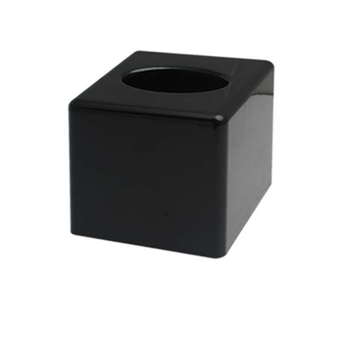 Tissue Box Cover Sqr Black 125x125 H138