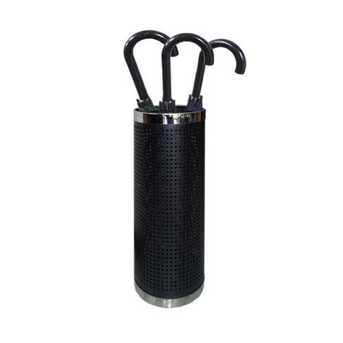 Umbrella Stand Black/SS H580 D220