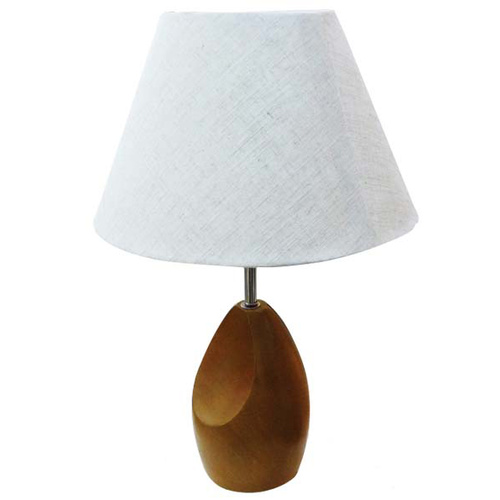 Lamp Table Tweed Light Base H480mm with Linen Shade