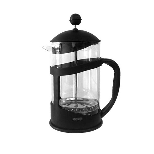 Plunger Coffee Black Plastic 600ml Glass Insert Aprox 5 cup