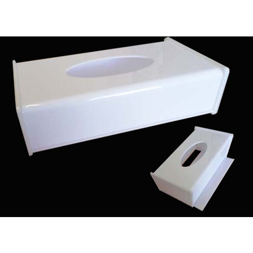 Tissue Box Cover Acryl Rect White Size L250mm W135mm H73mm